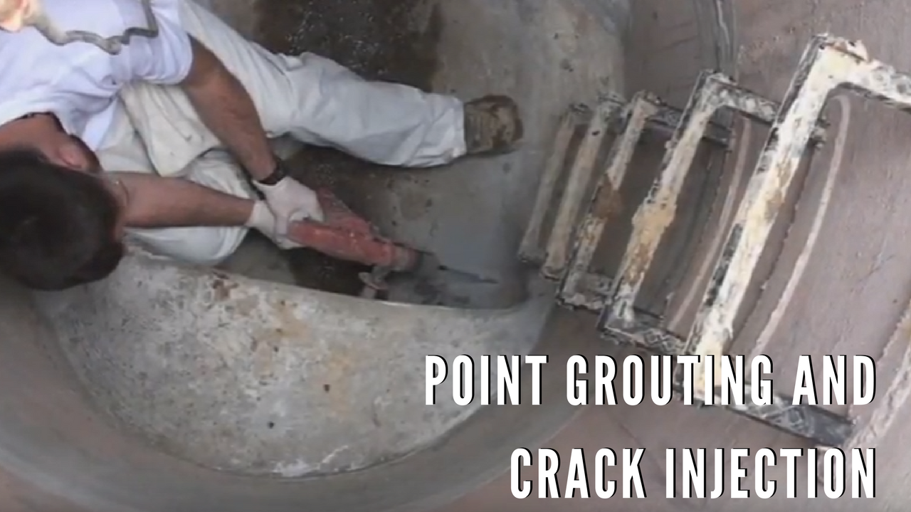 Point grouting and crack injection